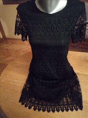 Crna kratka haljina od čipke XS