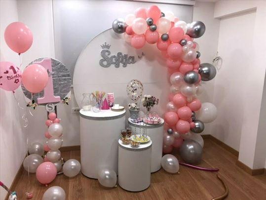 Dekoracija za rođendane, svadbe i razne svečanosti