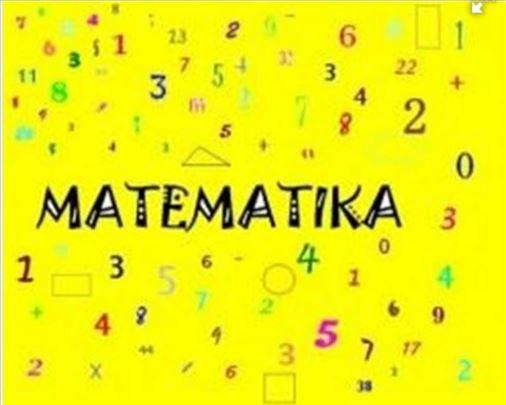 Časovi matematike od 1 do 4 razreda
