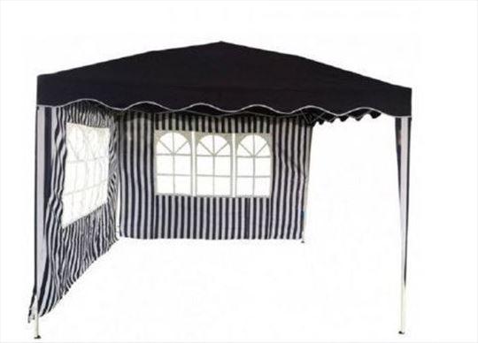 GAZEBO sklopiva tenda 3x3m - sa dva bočna panela