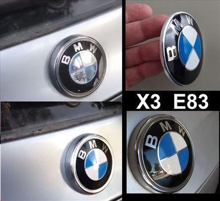 BMW zadnji znak X3 E83 reparacija