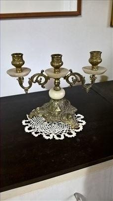 dva svecnjaka za 1190din, mermer/mesing
