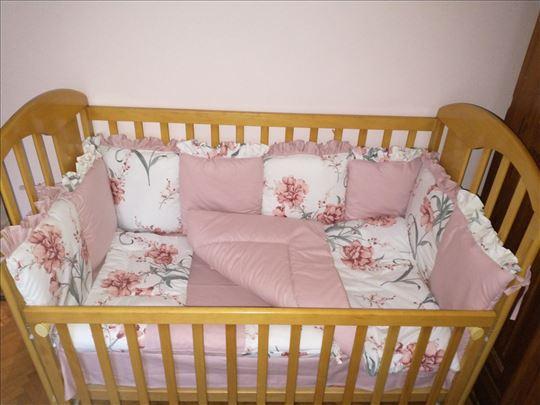 Ogradica za krevetac - novo, po meri
