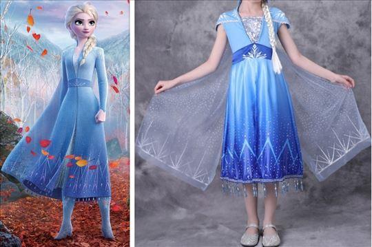 Elza Elsa Frozen 2 kostim haljina model P plast kr