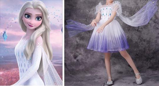 Elza Elsa Frozen 2 kostim kostimi haljina BELA 2