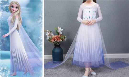 Elza Elsa Frozen 2 kostim kostimi haljina Bela 1