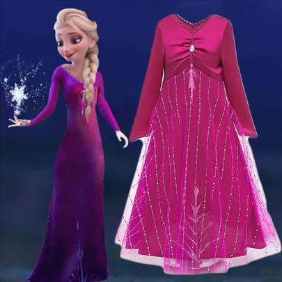 NOVO Elza Frozen 2 haljina kostim Elsa ciklama