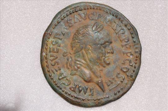 Rim, plaketa cara Vespazijana, bronza