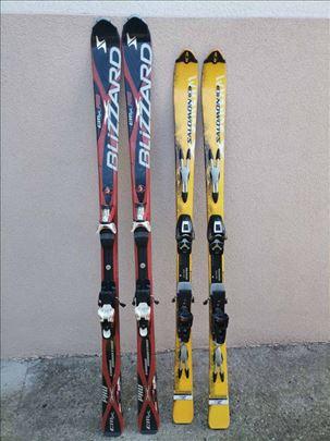 Prodajem dva para skija za 80e