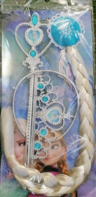 Frozen ELZA Elsa kika pletenica kruna i stapic