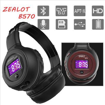 Bluetooth slusalice zealot B570 sa LCD Ekranom