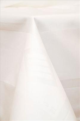 Beli stolnjak 210x210, bordura, damast 1. klasa