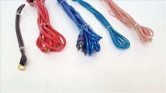 Sinus tec RCA i kablovi napajanja za pojačalo 6mm2