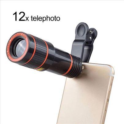 Teleskop za mobilni telefon, 12x zoom uvećava-NOVO