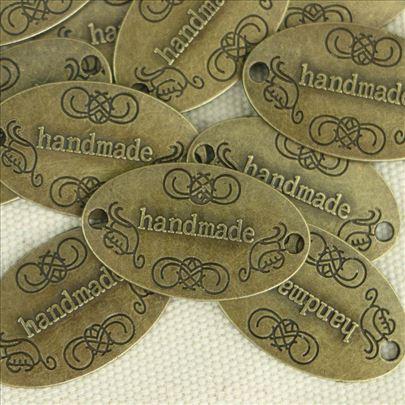 "Metalne pločice ""Handmade"" - 10 komada"
