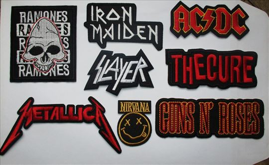 Muzički prišivci, rok i heavy metal