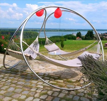 Reberg ljuljaške za 3 osobe (za vrt, baštu, bazen)