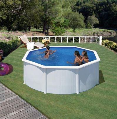 GRE montažni bazen BELI SET D350x1,2m