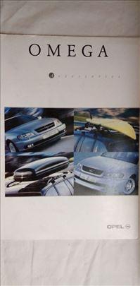 Prospekti Opel: Omega pribor, 12 str. eng.