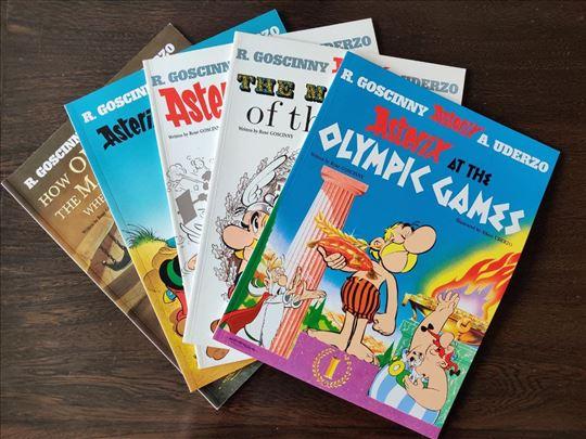 5 brojeva Asterix i Obelix (na engleskom)
