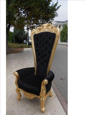 Stilske kraljevske fotelje,tron,presto Z,ručni rad