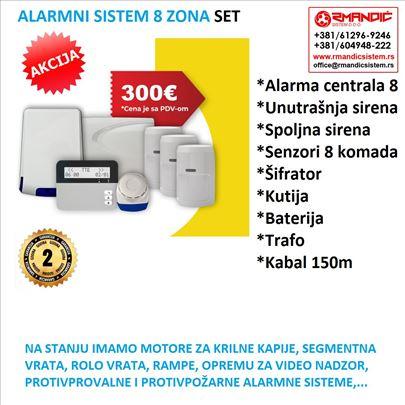 Alarm-Alarmni sistem TELETEK sa 8 zona SET