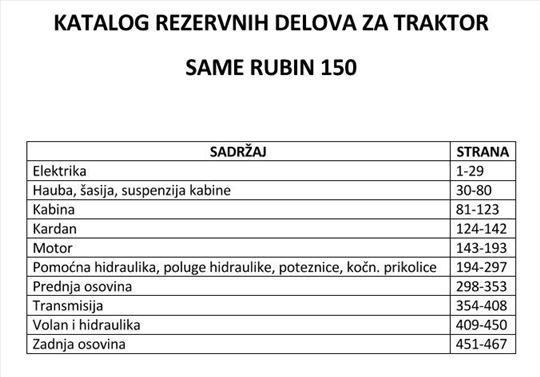 Same Rubin 150 - Katalog delova