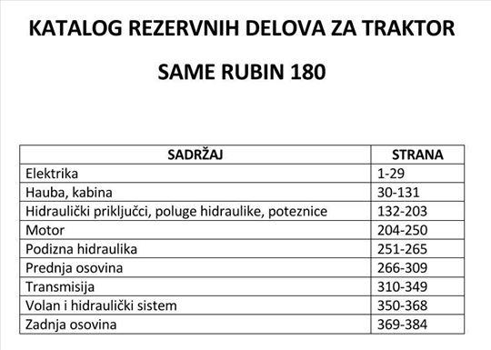 Same Rubin 180 - Katalog delova