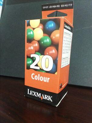 Lexmark original inks. 20 tri-colour. + Poklon 70