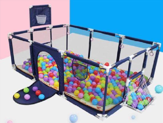 Igraonica za decu sa golovima i košem+100 loptica