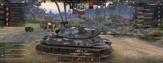 Prodajem World of tanks nalog