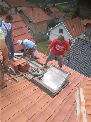 Majstori za vaš krov. Sanacije. Izgradnja krovova.
