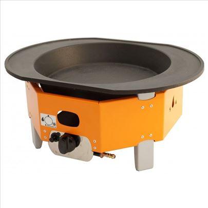 Mini plinski roštilj - gus ovalna ploča