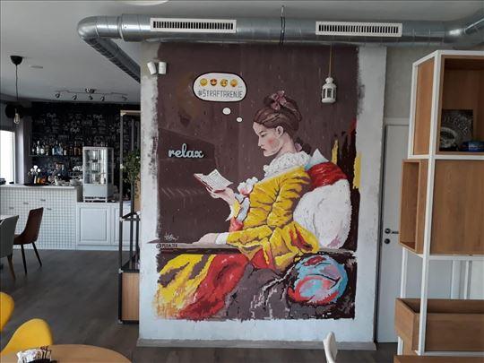 Oslikavanje zidova,enterijera, murali Pedja Te8