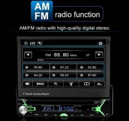 1din Multimedija 7in MP5 Player Bluetooth SD HD MC