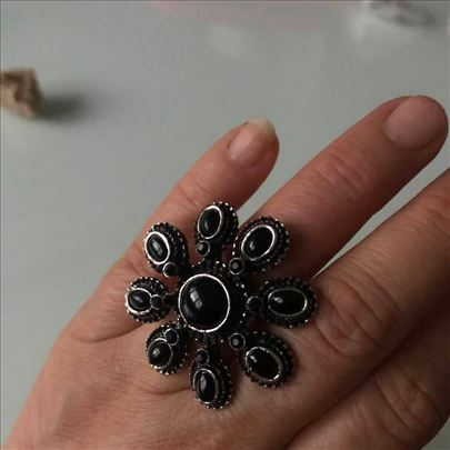 prsten crni ONIXS