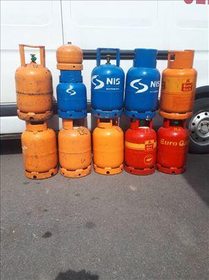 Plinske boce 2, 3, 5, 10 i 35 kg, delovi i oprema