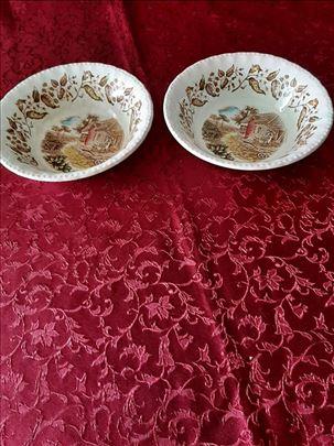 Dve porcelanske posudice, ručno bojene (Engleska)