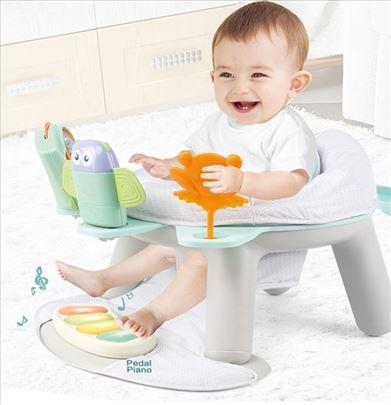 2in1 Fitnes stolica za hranjenje beba