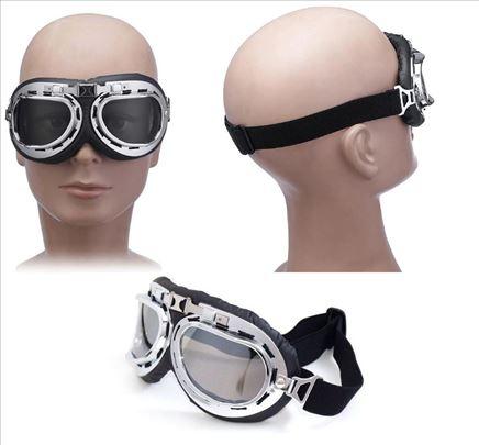 Moto retro naočare - aviator style