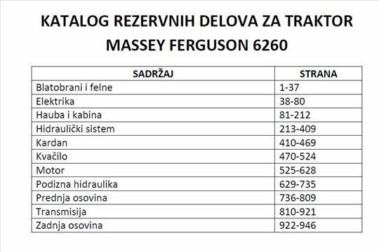 Massey Ferguson 6260 Katalog delova