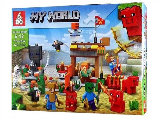 Minecraft zamak - 443 dela - Sjajan poklon