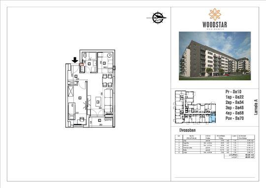 Woodstar Residence dvosoban stan 40.93m2
