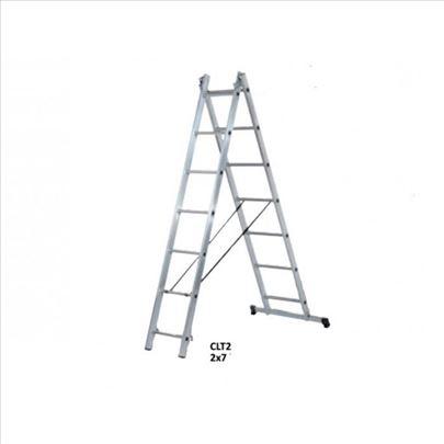 Dvodelne aluminijumske merdevine AXIAL 2x9 / 4,3m