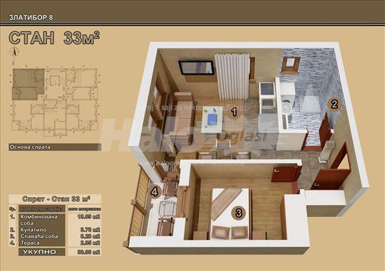 33 m2, Zlatibor 8, novogradnja, prodaja stanova