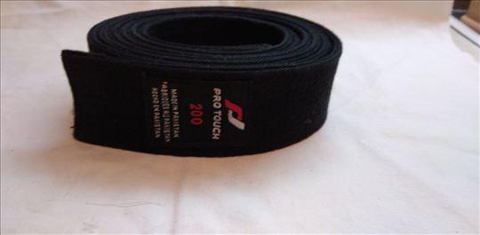Pojas za borilacki sport Pro touch crni 200 cm.,oc