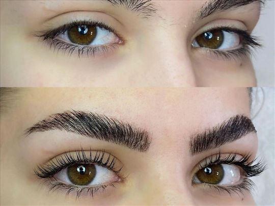 Laminacija trepavica i obrva Brow and lash lifting