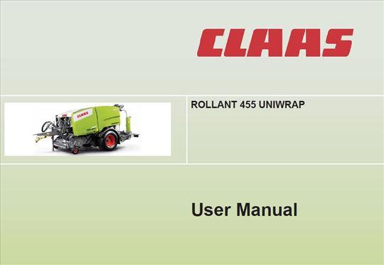 Claas Rollant prese - Uputstva za rukovanje