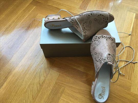 "Nove Papuče od meke prirodne kože""Heel""br.38 Italy"