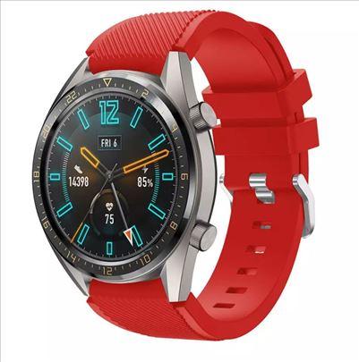 Crvena silikonska narukvica 22 za Samsung